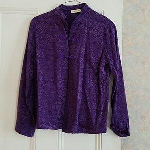 Marsh Landing Purple Blazer Jacket - M